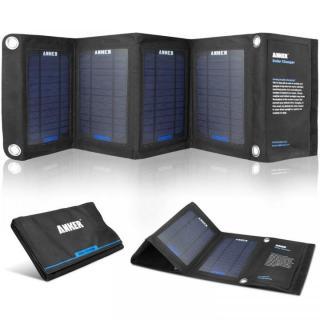 Anker ソーラーパネルチャージャー デュアルポート搭載 折りたたみ式 iPhone/iPad