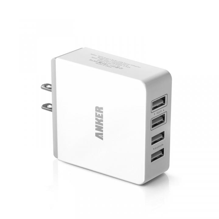 iPhone4台同時に急速充電 Anker 36W4ポート USB急速充電ACアダプター