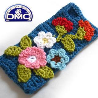 Knit Wear  iPhone SE/5s/5 Flower ブルー
