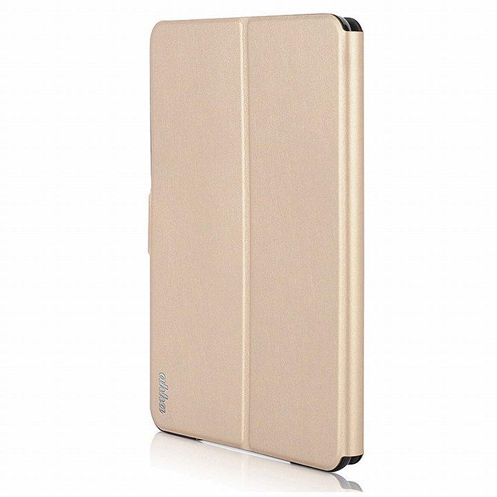 リバーシブル仕様 手帳型ケース ゴールド/グレイ iPad mini 2/3