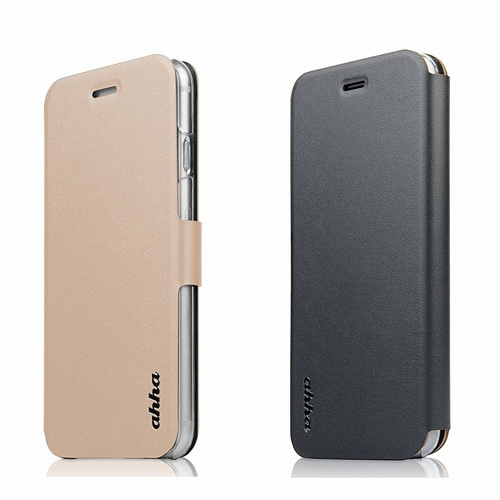 リバーシブル仕様 手帳型ケース ゴールド/グレイ iPhone 6