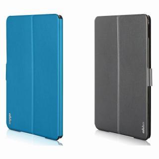 リバーシブル仕様 手帳型ケース グレイ/ブルー iPad Air 2