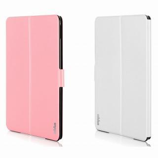 リバーシブル仕様 手帳型ケース ピンク/ホワイト iPad Air 2