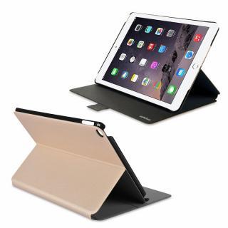 リバーシブル仕様 手帳型ケース ゴールド/グレイ iPad Air 2_4