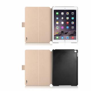 リバーシブル仕様 手帳型ケース ゴールド/グレイ iPad Air 2_5