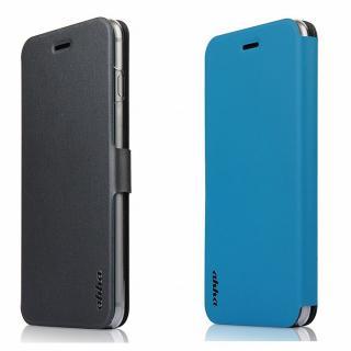 リバーシブル仕様 手帳型ケース グレイ/ブルー iPhone 6 Plus