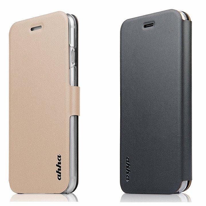 リバーシブル仕様 手帳型ケース ゴールド/グレイ iPhone 6s Plus/6 Plus