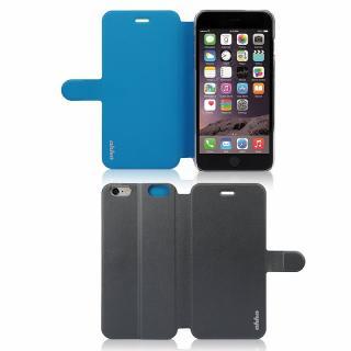 【iPhone6ケース】リバーシブル仕様 手帳型ケース グレイ/ブルー iPhone 6_6