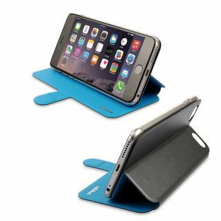 【iPhone6ケース】リバーシブル仕様 手帳型ケース グレイ/ブルー iPhone 6_7