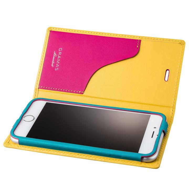 【iPhone6s/6ケース】[数量限定モデル]GRAMAS フルレザー手帳型ケース Sapeur イエロー iPhone 6s/6_0