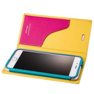 [数量限定モデル]GRAMAS フルレザー手帳型ケース Sapeur イエロー iPhone 6s/6