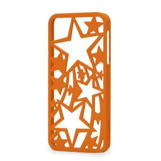 inCUTOUT  切り絵スタイルのiPhone SE/5s/5ケース スター オレンジ