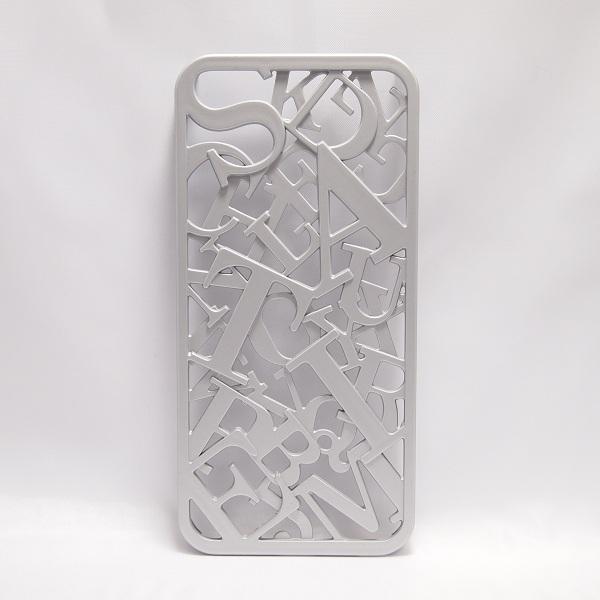 iPhone SE/5s/5 ケース inCUTOUT  切り絵スタイルのiPhone SE/5s/5ケース 3Dセリフ シルバー_0