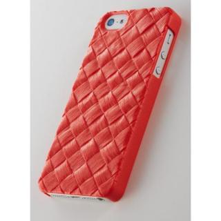 次元シリーズ  籐 3Dテクスチャーカバー 橙色 iPhone SE/5s/5ケース