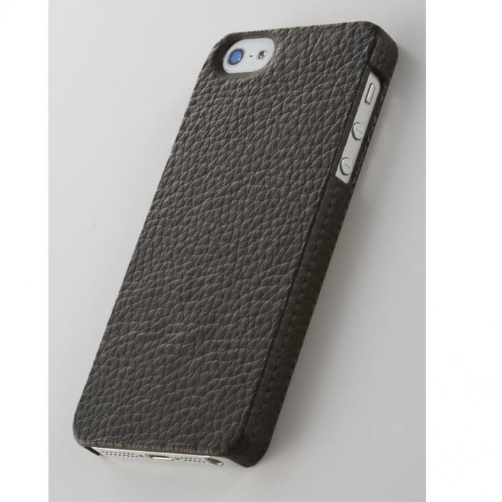 iPhone SE/5s/5 ケース 次元シリーズ  革 3Dテクスチャーカバー 濡羽 iPhone SE/5s/5ケース_0