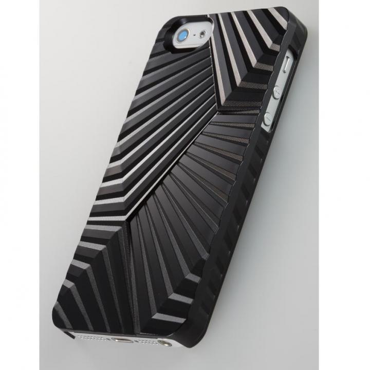 次元シリーズ  峰 3Dテクスチャーカバー 漆黒 iPhone SE/5s/5ケース