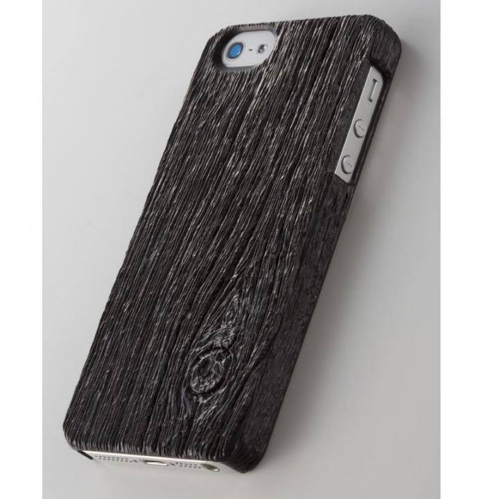 次元シリーズ 梁 3Dテクスチャーカバー 炭 iPhone SE/5s/5ケース