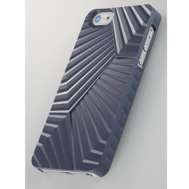 iPhone SE/5s/5 ケース 次元シリーズ  峰 3Dテクスチャーカバー 紺鼠  iPhone SE/5s/5ケース_0