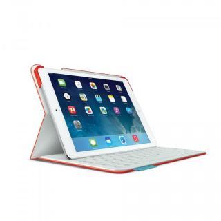 Logicool iPad Air ファブリックスキン キーボード フォリオ マーブルレッドオレンジ