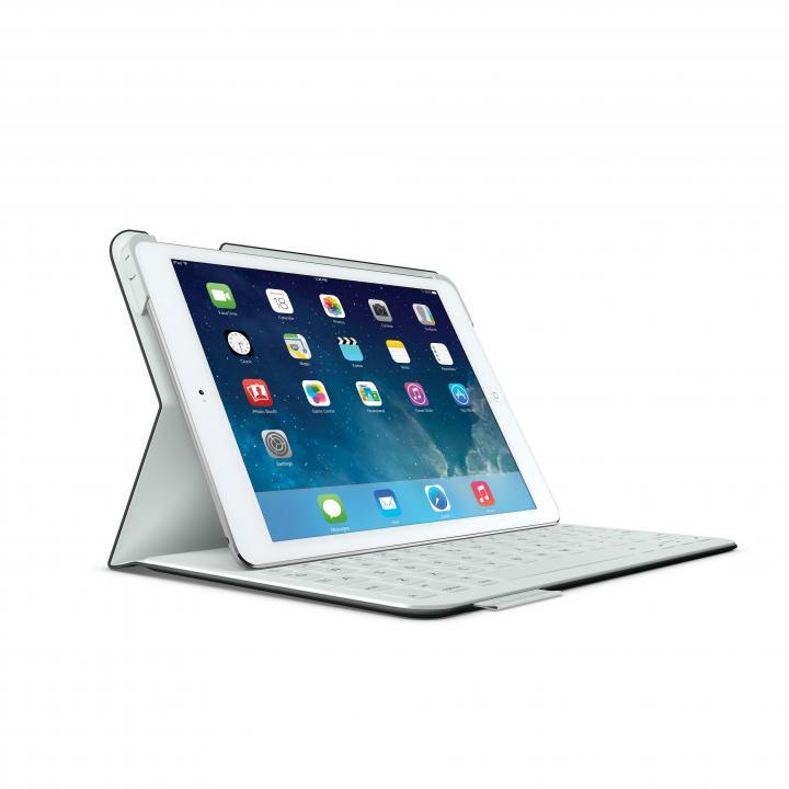 Logicool iPad Air ファブリックスキン キーボード フォリオ カーボンブラック