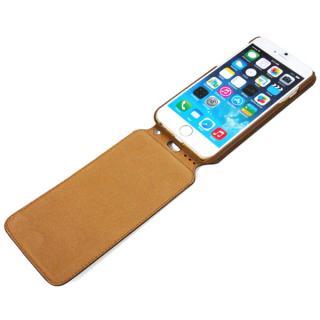 【iPhone6ケース】本革フリップケース スリーク キャメル iPhone 6_5