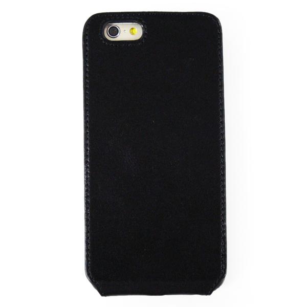 【iPhone6ケース】本革フリップケース スリーク ブラック iPhone 6_0
