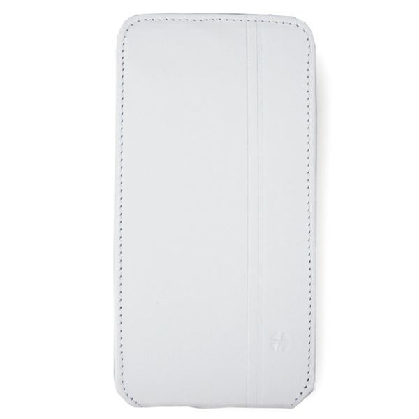 【iPhone6ケース】本革フリップケース スリーク ホワイト iPhone 6_0