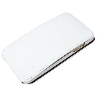【iPhone6ケース】本革フリップケース スリーク ホワイト iPhone 6_1