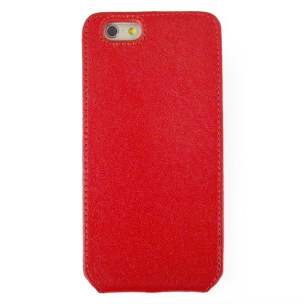 【iPhone6ケース】本革フリップケース スリーク レッド iPhone 6_0