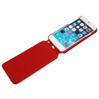 【iPhone6ケース】本革フリップケース スリーク レッド iPhone 6_6