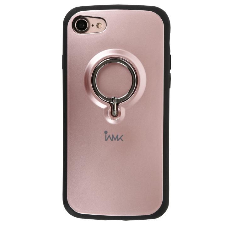 iPhone8/7 ケース 落下防止リング付きケース iAMK ピンク iPhone 8/7_0