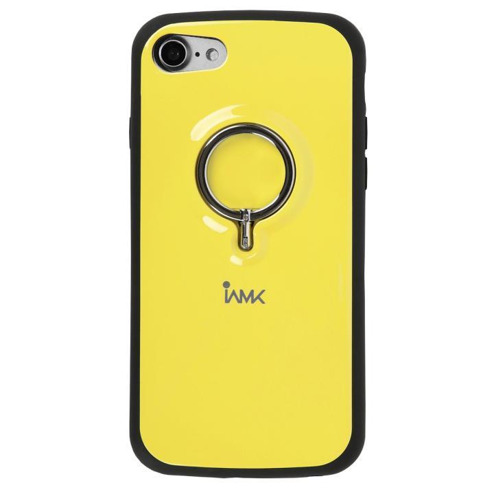 iPhone7 ケース 落下防止リング付きケース iAMK イエロー iPhone 7_0