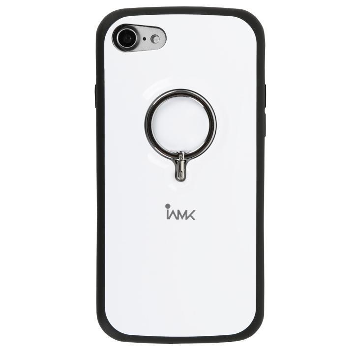 iPhone8/7 ケース 落下防止リング付きケース iAMK ホワイト iPhone 8/7_0