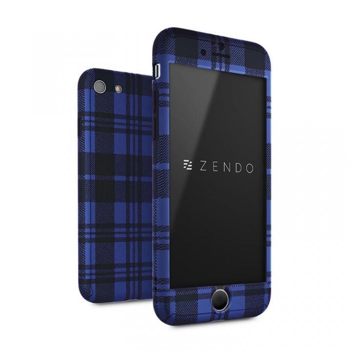 【iPhone7ケース】ZENDO Nano Skin フルカバーケース チェッカード ブルー iPhone 7_0