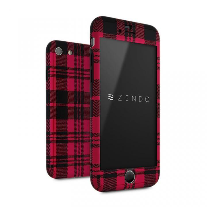 ZENDO Nano Skin フルカバーケース チェッカード レッド iPhone 7