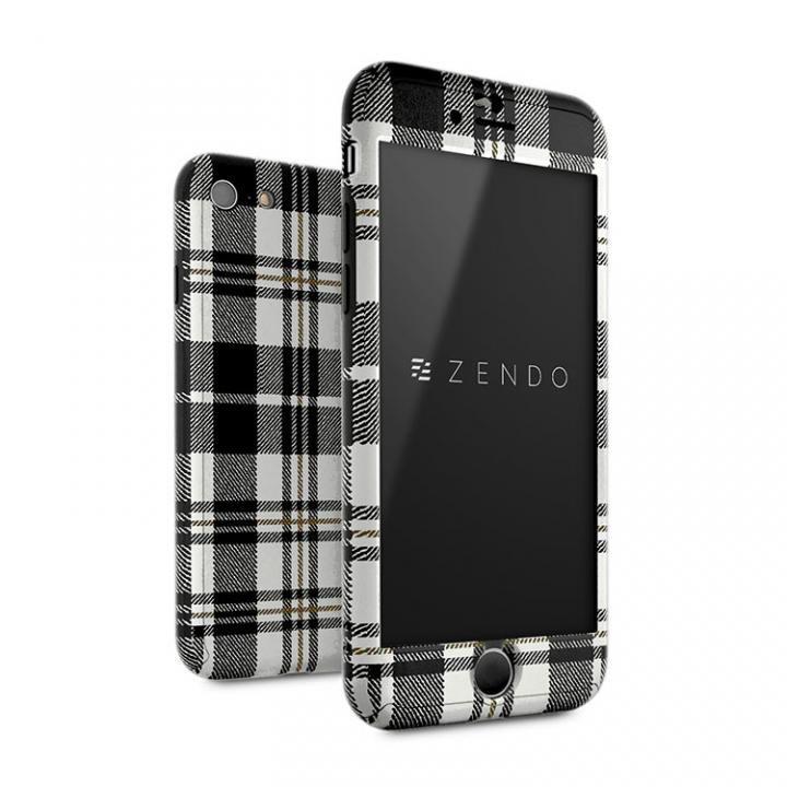 【iPhone7ケース】ZENDO Nano Skin フルカバーケース チェッカード ホワイト iPhone 7_0