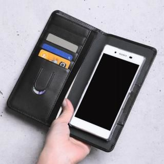 お札も入る手帳型汎用スマートフォンケース Simoni(シモーニ) ブラック
