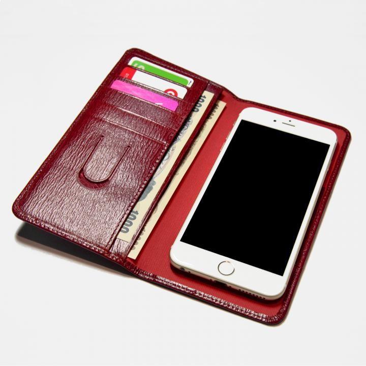 【iPhone7/7 Plusケース】お札も入る手帳型汎用スマートフォンケース Simoni(シモーニ) レッド_0