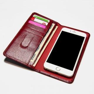 [新iPhone記念特価]お札も入る手帳型汎用スマートフォンケース Simoni(シモーニ) レッド