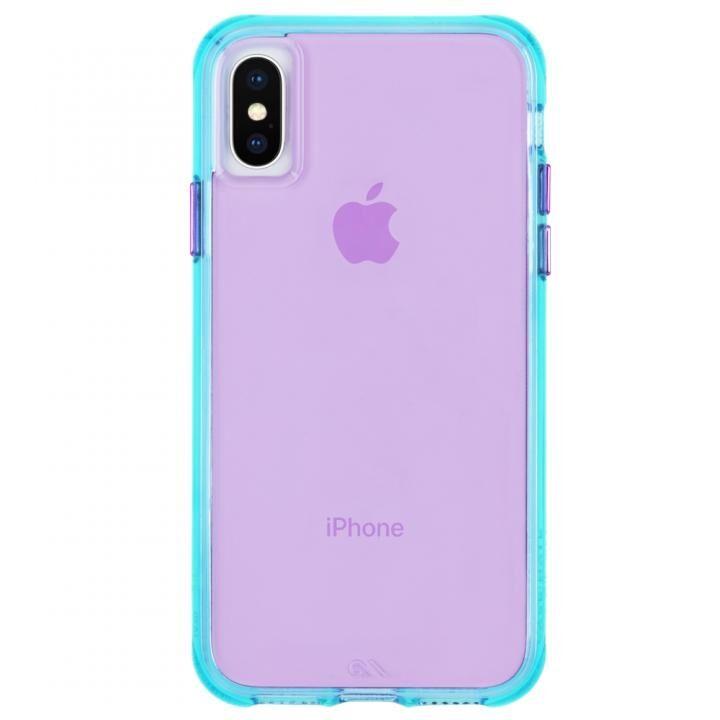【iPhone XS/Xケース】Case-Mate Tough Clear Neon ケース Turquoise Purple iPhone XS/X_0