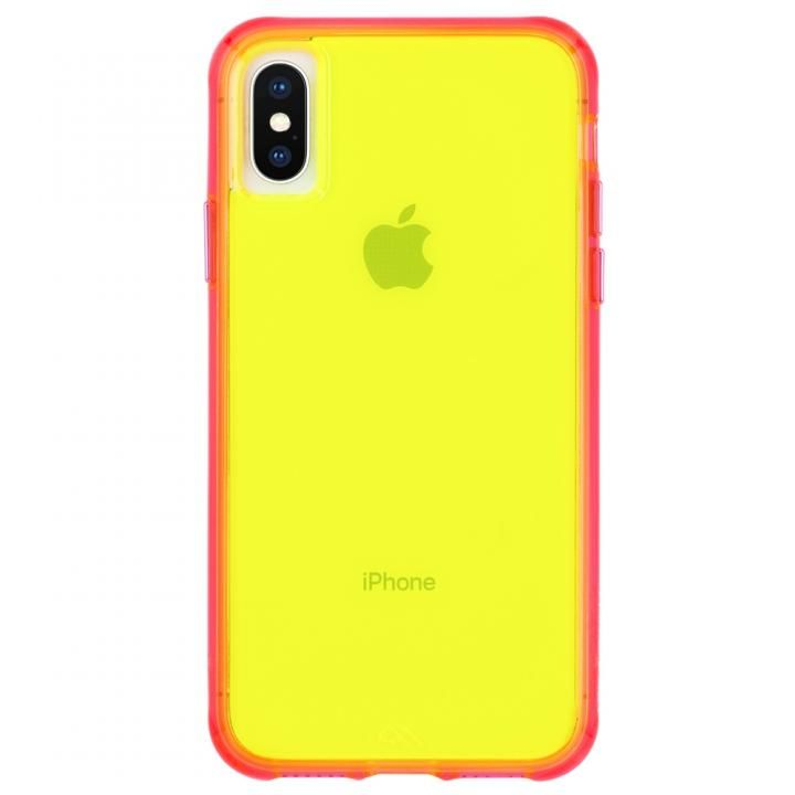 【iPhone XS/Xケース】[AppBank先行]Case-Mate Tough Clear Neon ケース Green Pink iPhone XS/X_0
