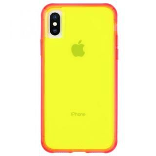 iPhone XS/X ケース Case-Mate Tough Clear Neon ケース Green Pink iPhone XS/X