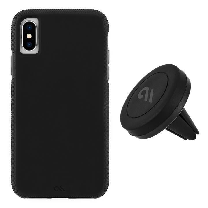 【iPhone XS/Xケース】Case-Mate 耐衝撃 二重構造 ハイブリッド タフ Car Case ブラック iPhone XS/X_0
