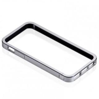 メタルバンパーなのに軽量ボディ Just Mobile AluFrame  iPhone SE/5s/5 シルバー