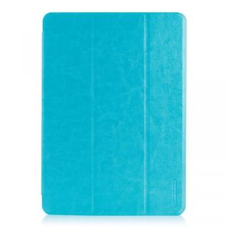 LeatherLook SHELL with Front カバー iPad Air Sky Blue