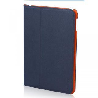 LeatherLook Classic iPad Air Navy Blue/Valencia Orange