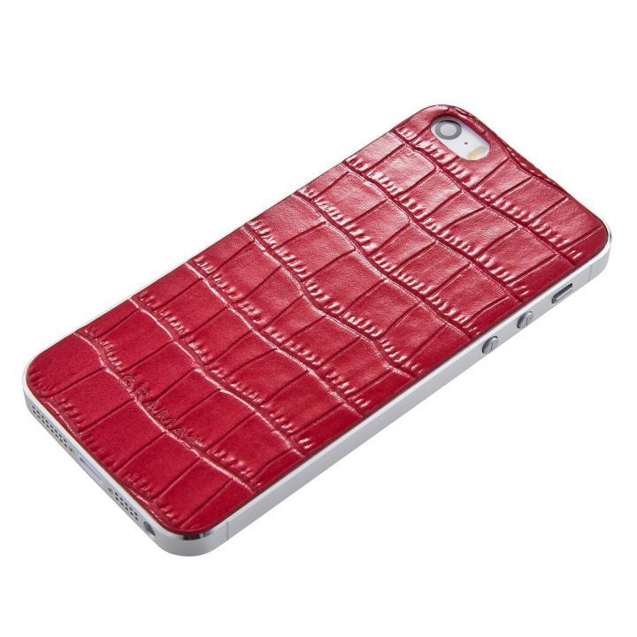 iPhone SE/5s/5 ケース GRAMAS Crocodile type 牛皮革 iPhone SE/5s/5 バックパネル レッド_0