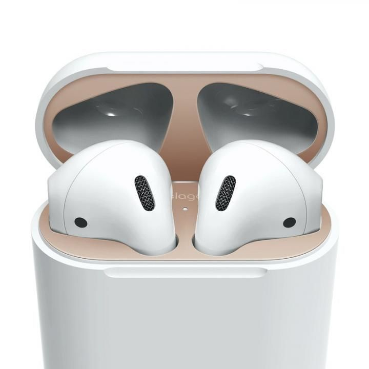 elago AirPods DUST GUARD for AirPods Matte Rose Gold_0