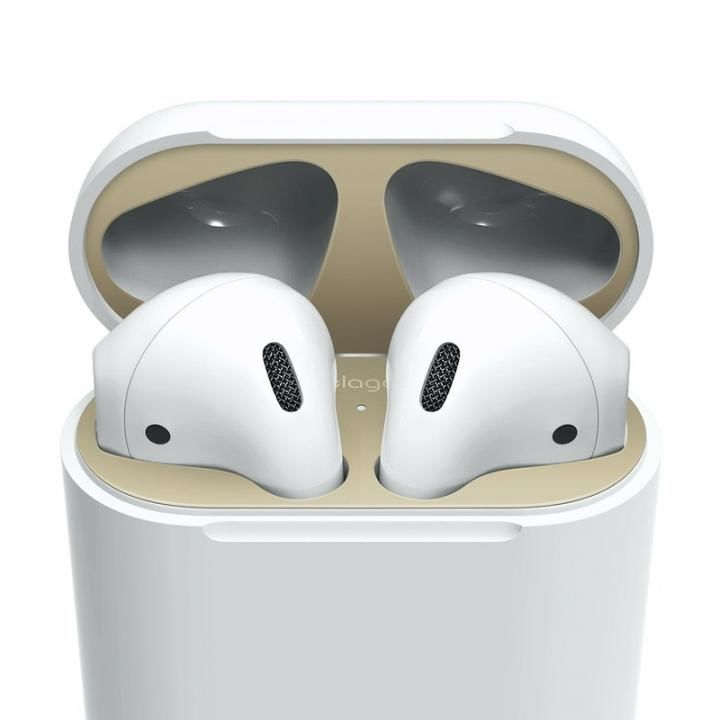 elago AirPods DUST GUARD for AirPods Matte Gold_0
