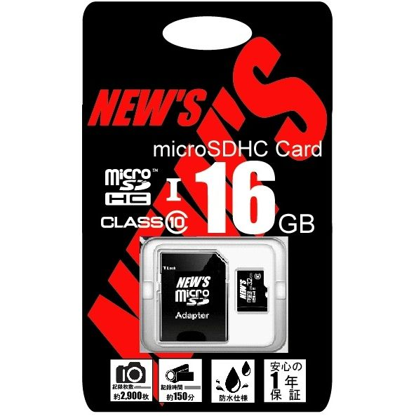 NEW'S microSDHC 16GB class10 UHS-1_0